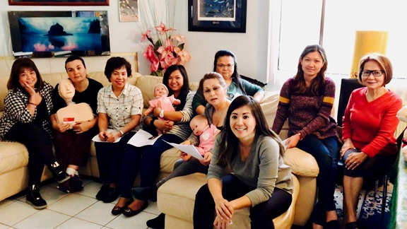 Desert Regional Medical Center (DRMC) doctors, nurses, medical technicians/clerks, certified nursing assistants, and other allied health professionals taking Palm Desert Resuscitation Education's out-of-site and private Basic Life Support (BLS) Course for Adult, Child, and Infant CPR and AED training (Palm Springs, CA on January 16, 2017).