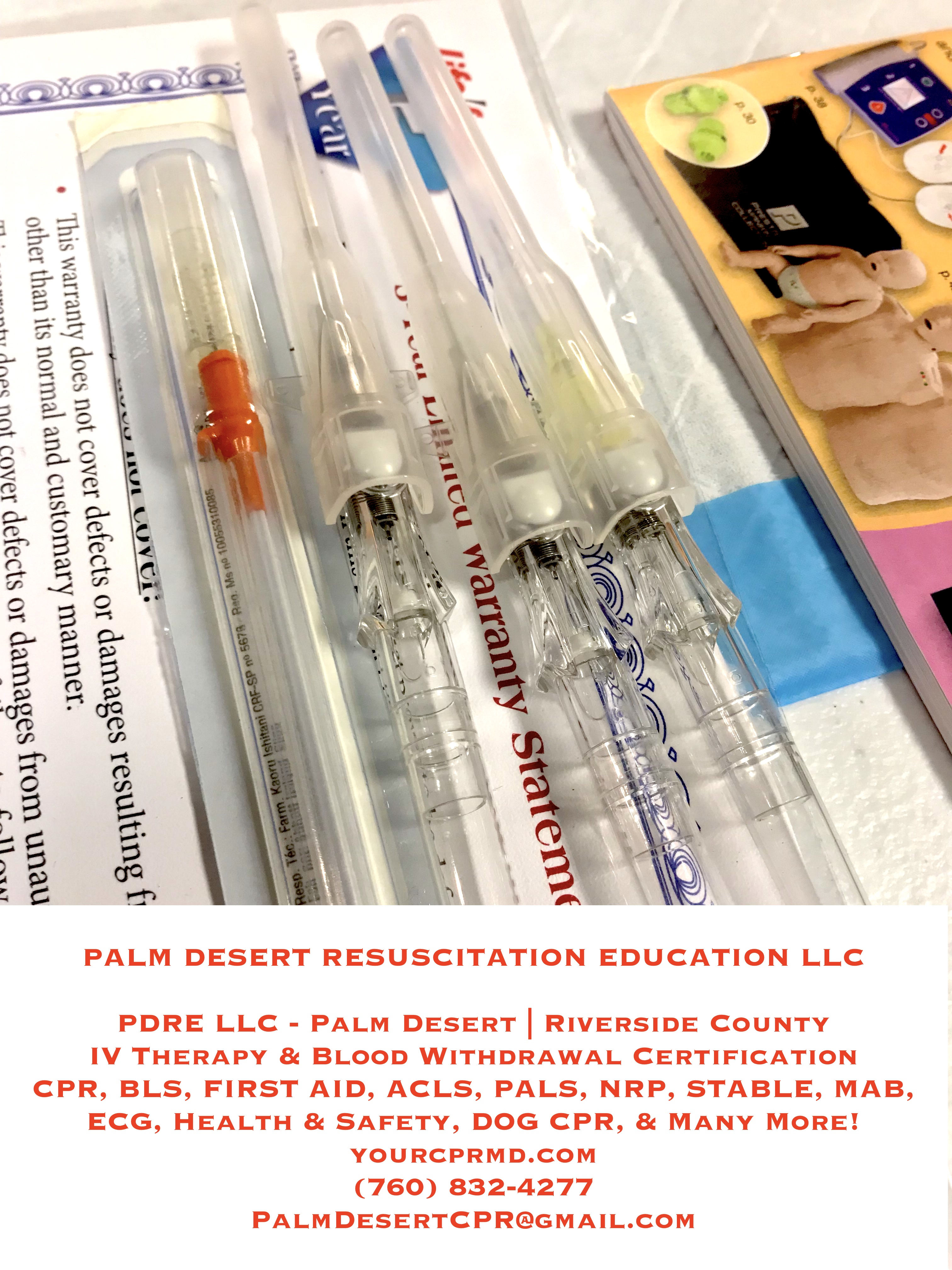 Intravenous Iv Therapy Blood Withdrawal Certification